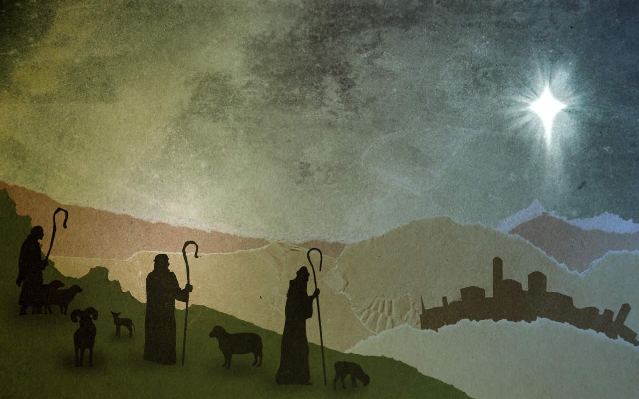 Christmas Shepherds.Cardboard Christmas Shepherds